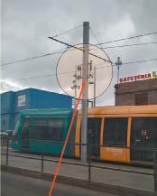 Крепление базовых станций Proxim MP.11 на опорах