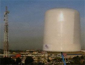 Наружная восьмилучевая антенна абонентского терминала фиксированной связи в диапазоне 3,5 ГГц с режимом самоинсталяции