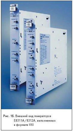Внешний вид генераторов E8311A/8312A, выполненных в формате VXI