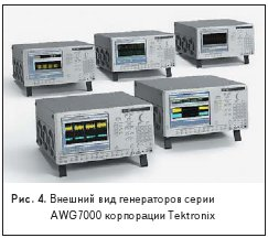 Внешний вид генераторов серииAWG7000 корпорации Tektronix