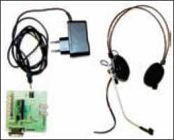 Макет гарнитуры беспроводной связи