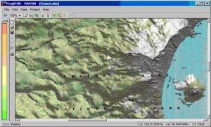 Визуализация цифровой карты местности
