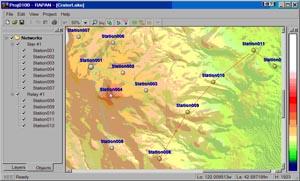 Пример размещения станций на карте