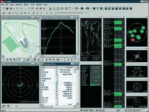 Интерфейс программной оболочки u-Center