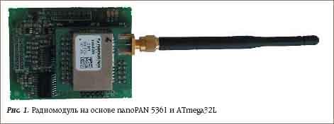Радиомодуль на основе nanoPAN 5361 и ATmega32L