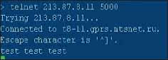 Проверка установления TCP-соединения с модемом с центрального сервера через сеть Интернет