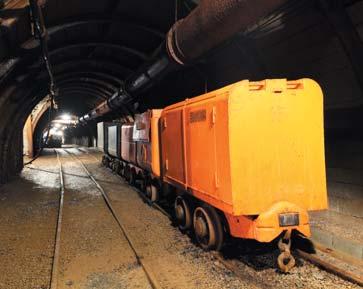 Подземный туннель в шахте