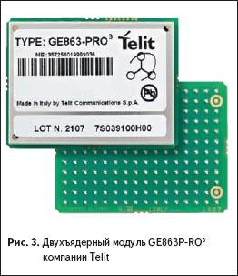 Двухъядерный GSM модуль GE863-PRO3 от Telit