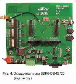 Отладочная плата SDK0408MG720 (вид сверху)