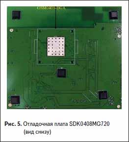Отладочная плата SDK0408MG720 (вид снизу)