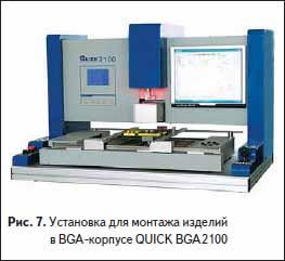 Установка для монтажа изделий в BGA-корпусе QUICK BGA2100