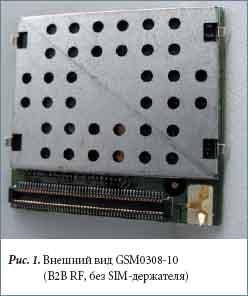 Внешний вид GSM0308-10 (B2B RF, без SIM-держателя)