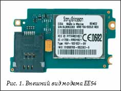 Внешний вид модема EE54 от Sony Ericsson