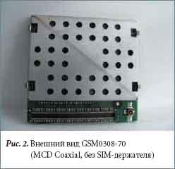 Внешний вид GSM0308-70 (MCD Coaxial, без SIM-держателя)