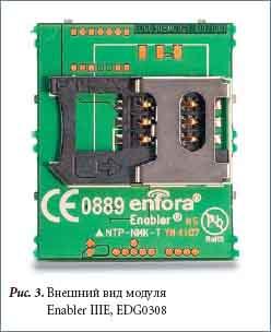 Внешний вид модуля Enabler IIIE, EDG0308