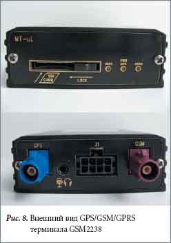 Внешний вид GPS/GSM/GPRS терминала GSM2238