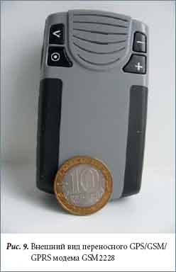 Внешний вид переносного GPS/GSM/GPRS модема GSM2228