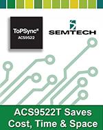 ИС ACS9522T обеспечивает законченное однокристальное аппаратное и программное решение синхронизации для основанных на протоколе IP проводных и беспроводных разработок