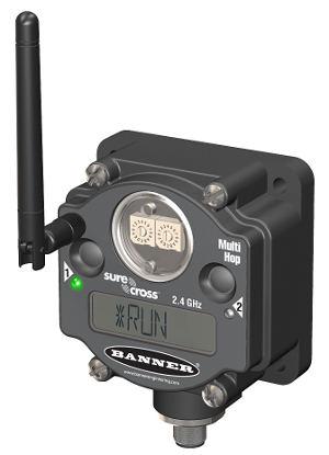 Релейная линия новых радиопередатчиков-ретрансляторов DX80DR компании Banner Engineering