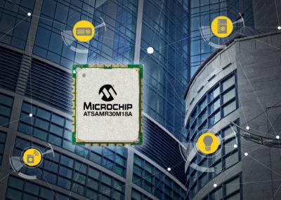 Microchip анонсирует самый компактный в отрасли IEEE 802.15.4-совместимый модуль SAM R30, в состав которого входит микроконтроллер (МК) с очень малым потреблением и субгигагерцеовым радиоблоком, что позволяет ускорить время вывода продукции на рынок и обеспечить продолжительный срок службы батарей в беспроводных датчиковых сетях
