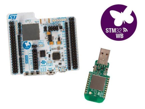 Новая отладочная плата P-NUCLEO-WB55 с ключом USB и Bluetooth 5.0 от STMicroelectronics