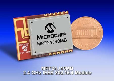 Модуль для беспроводной связи стандарта IEEE 802.15.4 и ZigBee PRO Microchip