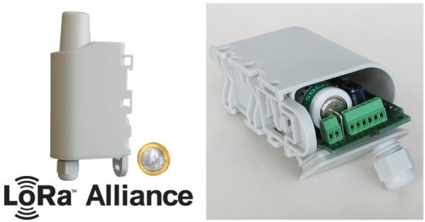 Радиопередатчик сетей LoRaWAN ARF8046PA от Adeunis RF для подключения импульсных счетчиков