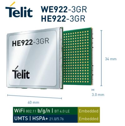 Компания Telit анонсирует два модуля —HE922-3GR и WE922-3GR