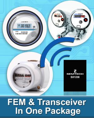 Полностью интегрированный приемопередатчик ISM-диапазона SX1238 от Semtech