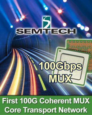 Мультиплексор SMI10022 с пропускной способностью 100 Гбит/с для сверхдлинных каналов связи