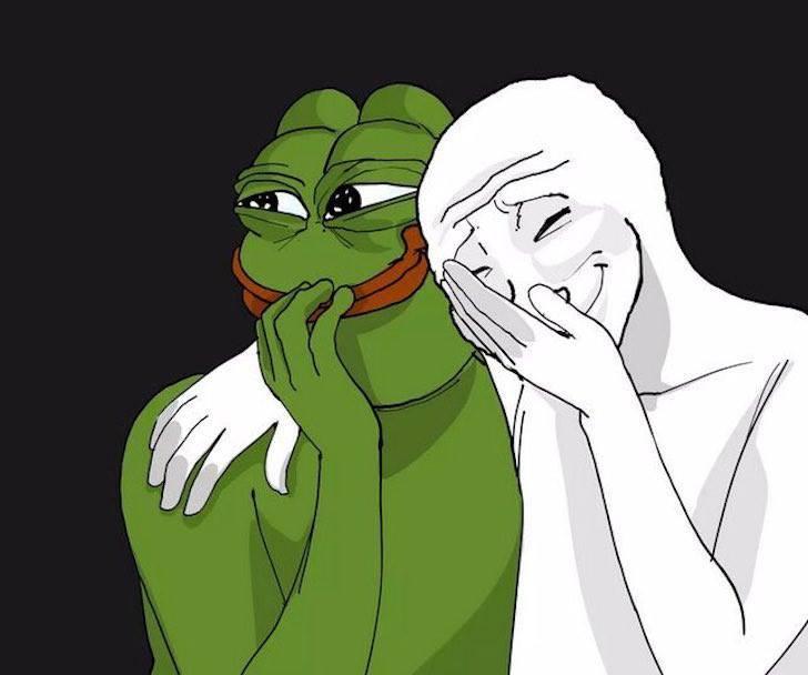 лягушонок пепе и белый человек