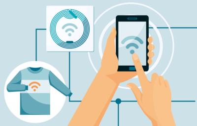 Рис. 1. Два вида NFC устройств: считыватель (смартфон) и метка