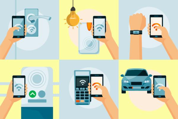 Рис. 3. Области применения технологии NFC